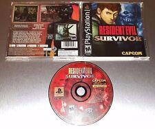 Resident Evil: Survivor ☆☆ Complete w/ MINT CASE, Tested ☆☆ - PS1 Playstation 1