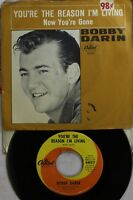 Rock Picture Sleeve 45 Bobby Darin - You'Re The Reason I'M Living / Now You'Re G