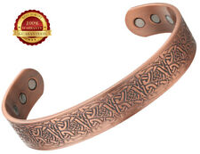Copper Magnetic Bracelet Health 6 Magnets Bangle Pain Healing Therapy Arthritis