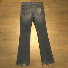 BURBERRY Bootcut Stretch Denim Jeans Woman's Size 6 Made In Italy