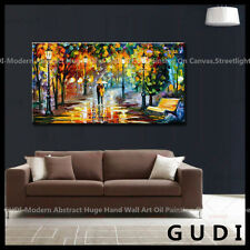 GUDI-Modern Abstract Art Manual Oil Painting Wall Deco Canvas walking Unframed