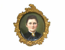 Miniature Portrait on porcelain plate Bronze Thuringia um 1850
