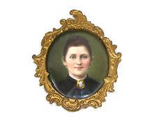 Miniature Portrait auf Porzellanplatte Bronze Thüringen um 1850
