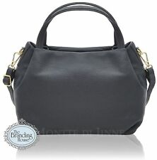 new ladies vera pelle Italian classic womens leather handbag with shoulder strap