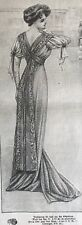MODE ILLUSTREE Sept 13 & 20,1908+multi sewing PATTERN sheet GOOD Copy-BALL GOWN