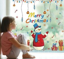 Christmas Window Clings Wall Decals for Home / Room & Store Decoration Business