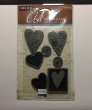 Hero Arts Untitled Heart Cling Stamp Set