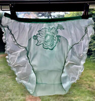 VTG 50's VANITY FAIR Granny Pillow Tab Nylon Tricot Panties Mushroom Gusset USA