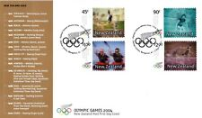 New Zealand 2004 Olympic Games FDC - 'Action Replay'