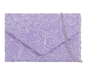 New Ladies Lace Floral Satin Evening Handbags Party Prom Wedding 41074-6