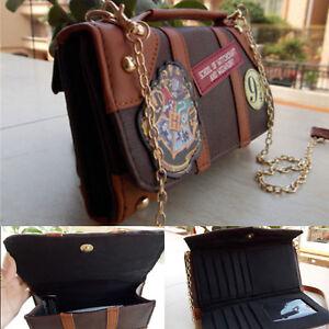 Chain Messenger Bag Leather Crossbody Wallet Shoulder Badge For Harry Potter