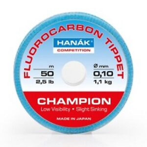 Hanak Competition Fly Fishing Fluorocarbon line 50m Spools 9 and 11lbs