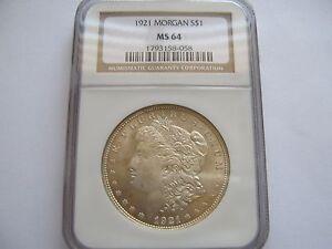 1921 Morgan Dollar - MS-64 NGC