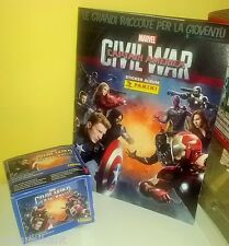 PANINI ALBUM + BOX CIVIL WAR CAPTAIN CAPITAN AMERICA 50 bustine DISPLAY figurine