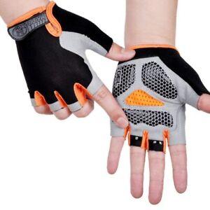 Anti-Slip Anti-Sweat Cycling Gym Bike Men Women Breathable Sports Half Gloves
