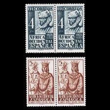 AFRICA OCCIDENTAL.1949.Sello Colonial.Blq 2.MNH.Edifil.1-2