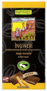 KS (4,19/100g) 2x Rapunzel Zartbitter 55% Ingwer Schokolade bio 80 g
