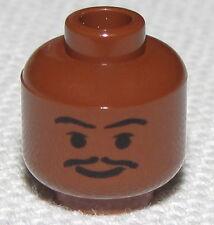 LEGO NEW REDDISH BROWN LANDO STAR WARS MINIFIGURE HEAD WITH MUSTACHE