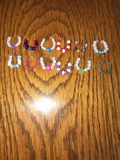 Littlest Pet Shop Accessories Lot of 12 Beaded Necklaces Handmade Collars  P16