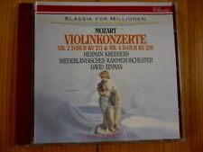 Mozart  Violinkonzerte No. 2 & 4  Herman Krebbers David Zinman, Nko  PHILIPS