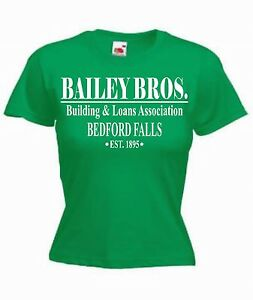 """Bailey Bros"" Girls T-Shirt, It's A Wonderful Life, Christmas, Xmas, Movie"