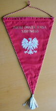 old POLISH Table Tennis FEDERATION Pennant Large Ping Pong TT POLAND