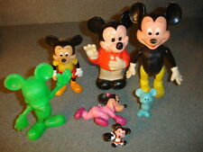 Old Vtg Antique Collectible Mickey Mouse Toy Lot Walt Disney Productions