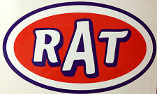 2- PACK RAT ROD HOT ROD DECAL STICKER      CHOPPER  BOBBER