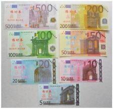 PRECIOSA COLECCION REPLICAS DE BILLETES EUROS - GRAN CALIDAD - NUEVO PLANCHA /