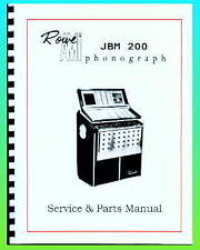 Rowe AMI JBM Jukebox Service & Parts Manual