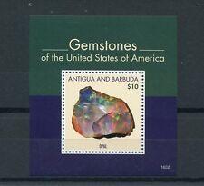 Antigua & Barbuda 2016 MNH Gemstones of United States of America 1v S/S Opal USA