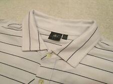 Fairway & Greene Natural Tech White & Black Stripe Polo Golf Shirt NWT XL $95