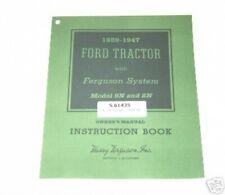 Ford 9N 2N Tractor Owners Operators Manual
