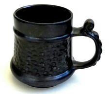 Prinknash Abbey Pottery Grey Lustre Stippled Pewter Effect Tankard 9cm