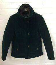 Ladies TU Dark Green Quilted Puffa Popper Zip Winter Coat Size UK 12 #R1-CF