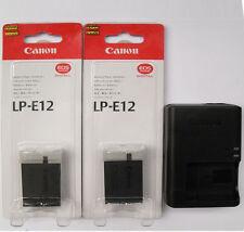 2x LP-E12 Batteries & LC-E12E Charger For Canon EOS-M EOS 100D Rebel SL1 DSLR