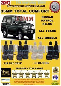 Nissan Patrol All Years Super Dense Sheepskin Car Seat Covers Pr Arbag Safe 35MM