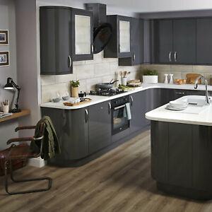 B&Q Santini Gloss Slab Pan drawer front & bi-fold doors Varies Sizes and Colours