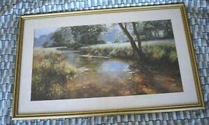 """Framed Idle Waters by David Dipnall. 28""""X17"""". Very good condition."""