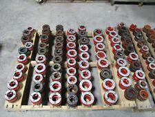 1 Lot Of Misc Die Heads 132 Pieces, Ridgid, Teldo, Reed, Etc # 59915M Used