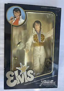 """Vintage 1984 Graceland 12"""" Elvis Presley Doll in Original Box - Eugene Doll Co."""