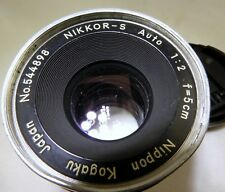 Nikon 5cm f2 Lens manual focus 50mm f2.0 Nippon Kogaku      part or repair AS IS
