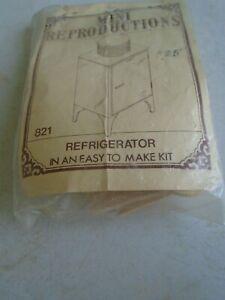 Vintage Mini Reproductions - Refrigerator #821 Dollhouse Furniture Kit NOS