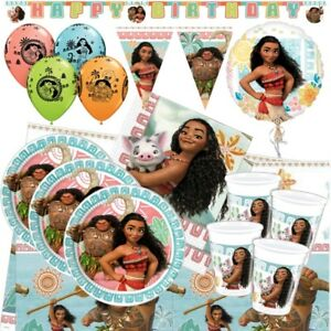 Disney Moana Maui Party Tableware (Cup, Plate, Napkin), Decorations and Balloons