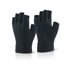 Click 2000 Black Fingerless Mitts - Pack of 6 - K16