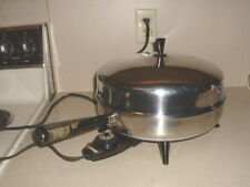 Farberware Stainless Electric Fry Pan w/Dome Lid & 3 Piece Steamer Set