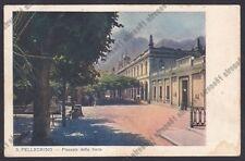 BERGAMO SAN PELLEGRINO TERME 106 STABILIMENTO FONTE Cartolina viaggiata (1925 ?)