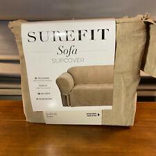 New Surefit Sofa Slipcover Suede Taupe 1 Piece