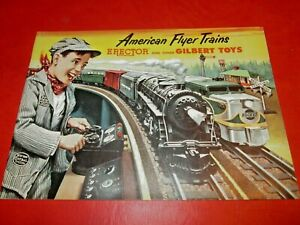 MINT American Flyer 1953 Catalog! Awesome! So stiff the pages wouldn't lay flat!