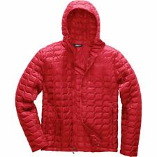 The North Face Men's THERMOBALL HOODIE Insulated Stowable Jacket Rage Red M Med